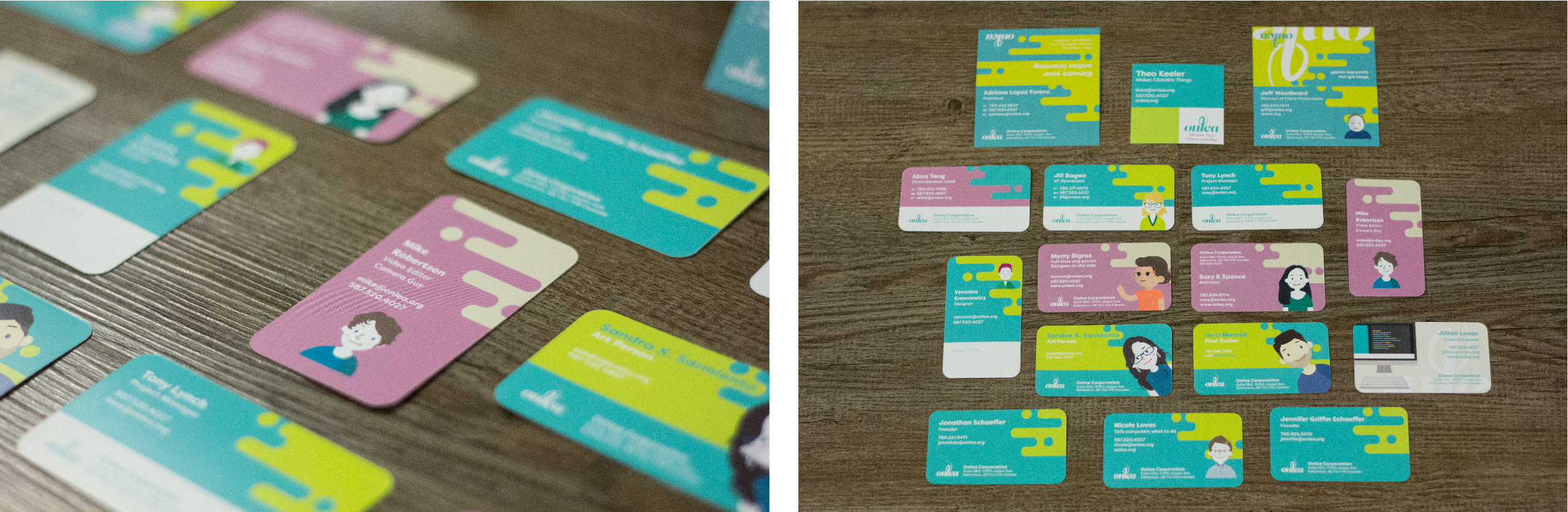 Onlea - Business Cards as Unique as our Team Members